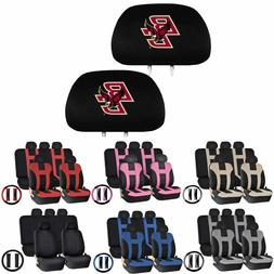 14PC Universal-fit Seat Covers Steering set for NCAA Boston