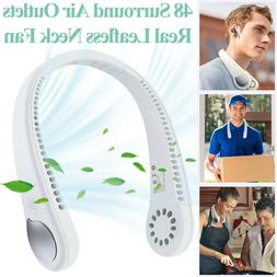 2 in 1 Air Cooler Hands Free USB Portable Leafless Mini Air