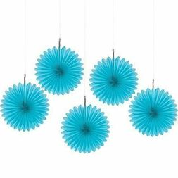 2 packs of 5 Amscan Party Perfect Mini Hanging Fan Decoratio