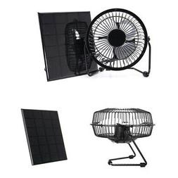 4 Inch USB Cooling Ventilation Fan Solar Powered Panel for H