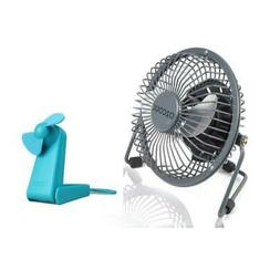 """O2COOL 4"""" USB Personal Table Desk Fan with Hand & Stand Fan"""