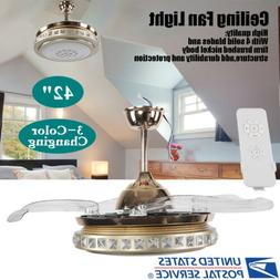 """42"""" Modern Ceiling Fan with LED Light Decor 3 speed control"""