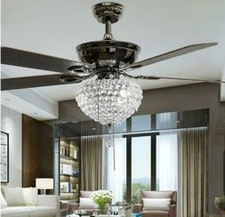 "52"" Tiffany Crystal 3-Light Ceiling Fans Lamps Home Chandeli"