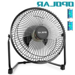 OPOLAR 9'' Battery Operated Recahrgeable Desk Fan for Home C