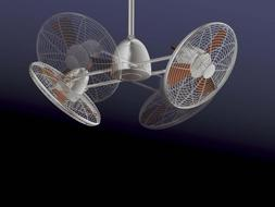 """Minka-Aire F602-BN/CH, Gyro, 42"""" Twin Turbofans with Light,"""