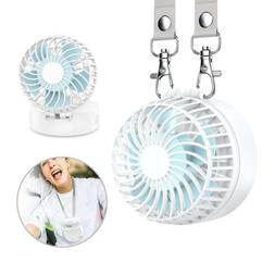 EasyAcc Battery Operated Necklace Rechargeable Fan 2600mAh 3