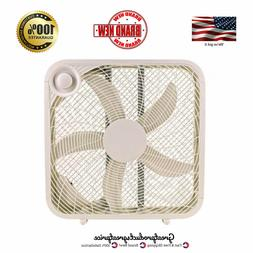 Box Fan 20 Inch Blade with 3 Speed Settings Portable Cooling