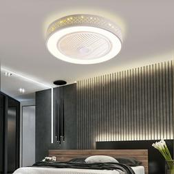 Ceiling Fan Light Remote Control LED Lamp Dimmable Bedroom O