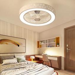Ceiling Fan Light with Remote Control LED Lamp Bedroom Offic