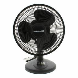 Comfort Zone Oscillating Table Fan   Portable, 3 Speed, Blac