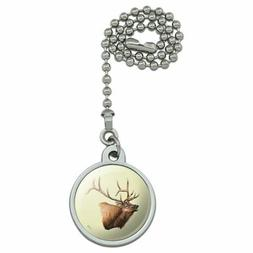 Elk Head Hunting Ceiling Fan and Light Pull Chain