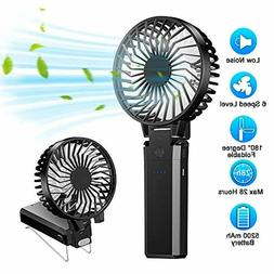 Handheld Fan Battery Operated Rechargeable Portable Detachab