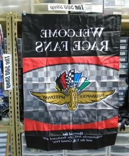 Indianapolis Motor Speedway Welcome Race Fans Collector Bann