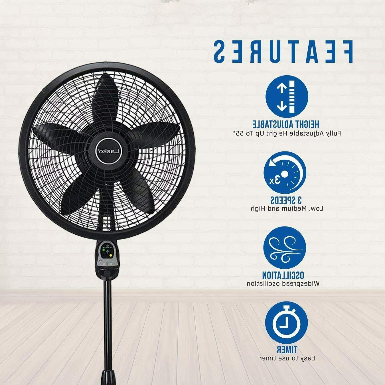 Lasko Remote Control Cyclone Pedestal with Built-in Timer,