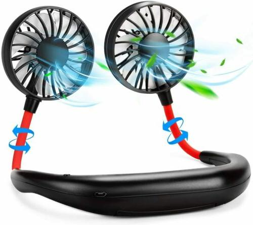 2x portable neck fan hand free personal
