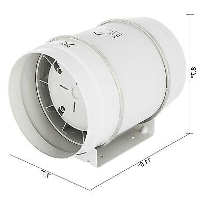 "3"" 5"" 8"" Duct Mixed Flow Exhaust Fan Two Speeds"