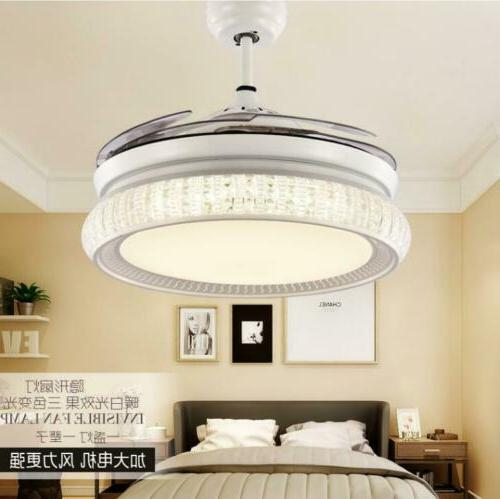 """42"""" Crystal Ceiling LED Blades Fixtures"""