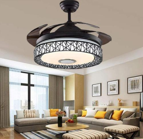 """42"""" Invisible Bluetooth LED Ceiling Fan Control Chandelier"""