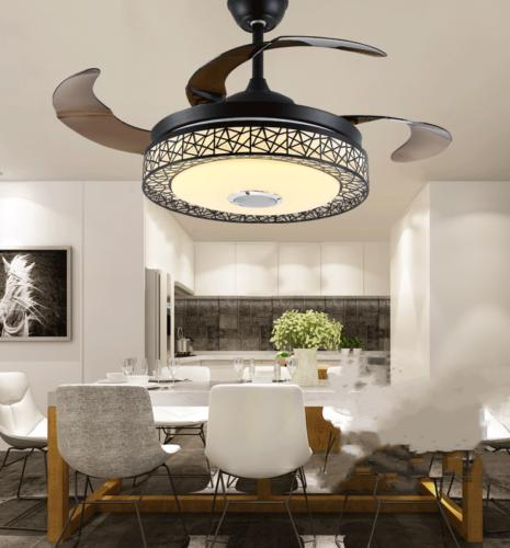 """42"""" Invisible Bluetooth LED Ceiling Fan Light Control"""
