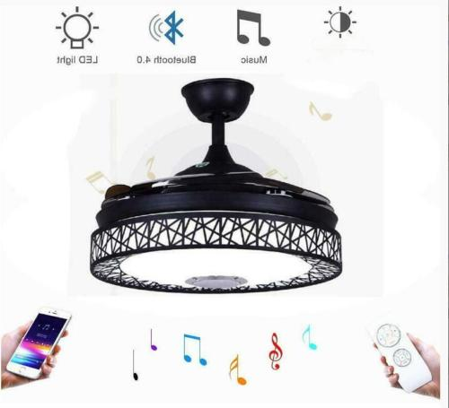 42 invisible bluetooth led ceiling fan light