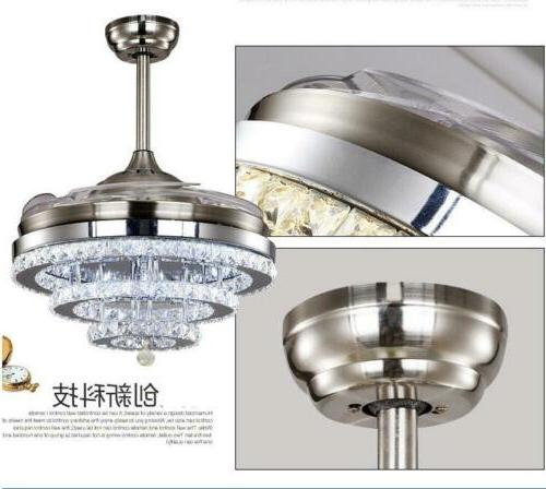 Modern Crystal Retractable Ceiling Light and Control