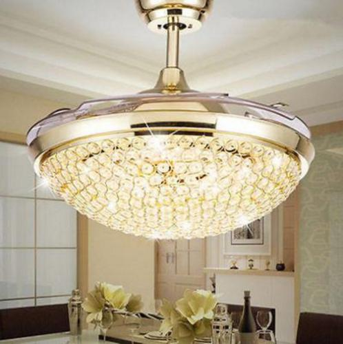 """42"""" Silver/Gold Retractable Ceiling Light"""