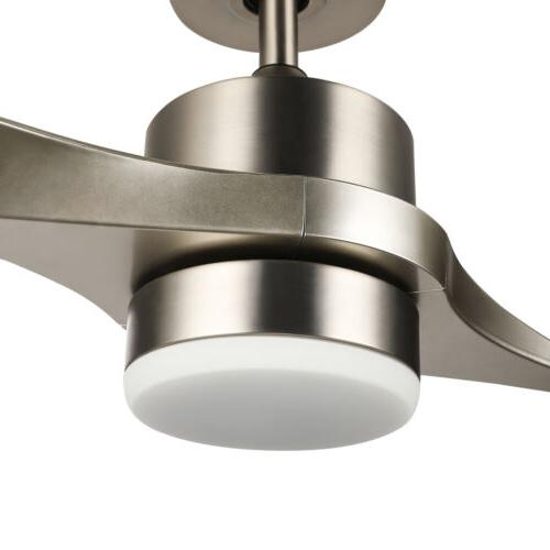 Moden Ceiling with Remote Low ABS LED Light 52-Inch