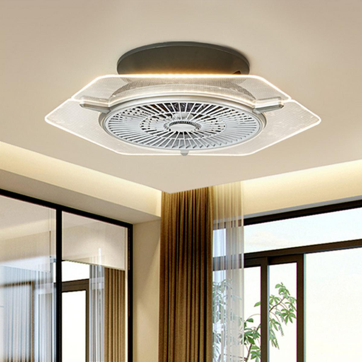 Ceiling Fan With kit and Remote LED Lamp Dimmable