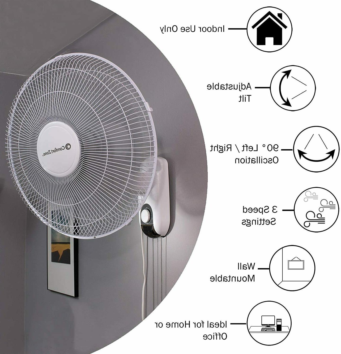 Comfort Oscillating 16-inch White with