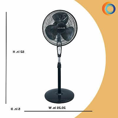 "Comfort 18"" 3-Speed Oscillating Pedestal Fan with"