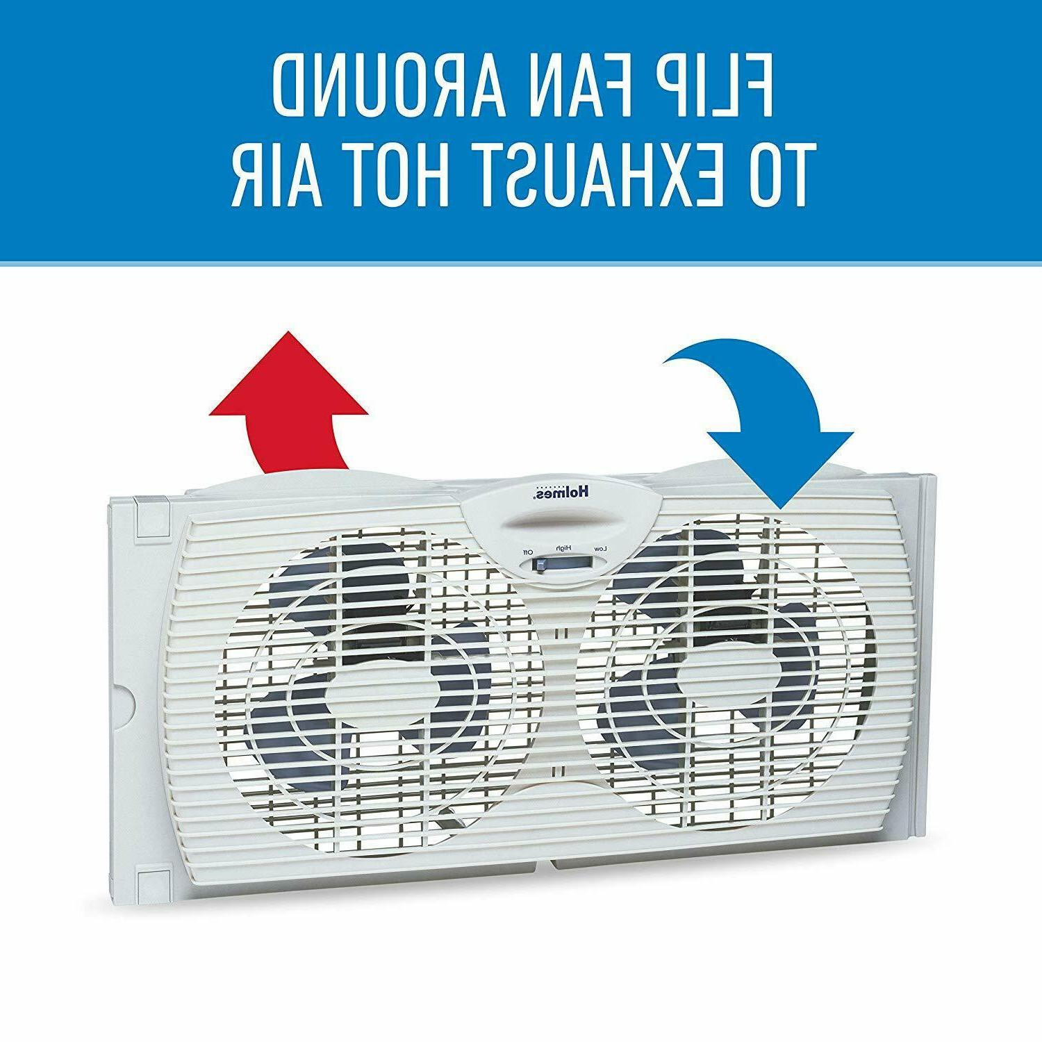 Twin Fan Holmes Dual Airflow 2 Speed White
