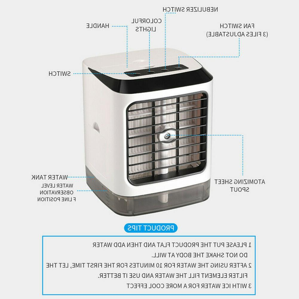 Evaporative Portable Air Mini Cooler Fan Humidifier Air Fan