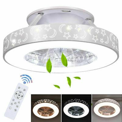 Indoor 23 inch Flush Mount Starry Sky Ceiling Fan w/ LED Lig