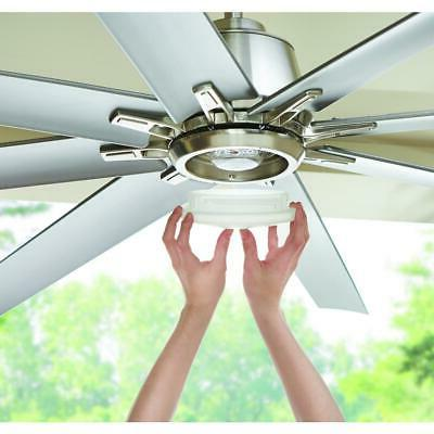 Kensgrove LED Outdoor Nickel Ceiling Fan with