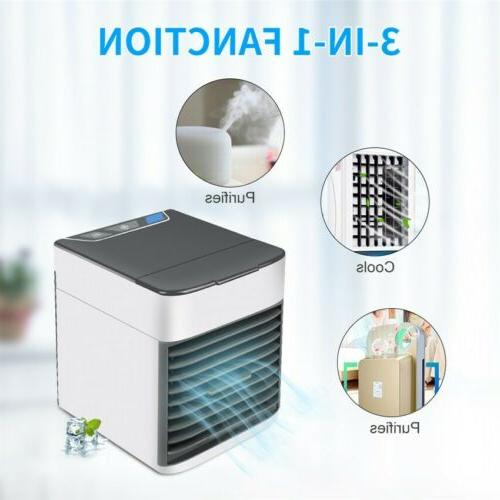 Mini Air Conditioner Portable Air Cooler LED Personal Fan
