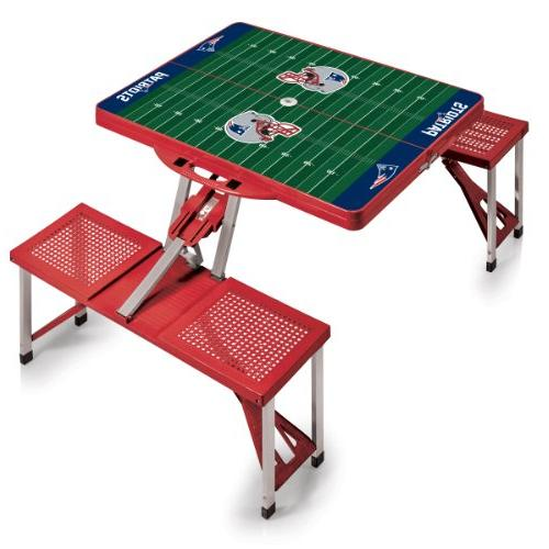 NFL Picnic Table Sport Color: Red, NFL Team: New England Pat