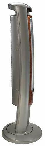 """Lasko Portable Electric 42"""" Oscillating Tower with Silverwood"""