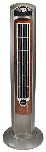 """Lasko Portable Electric 42"""" Oscillating Tower Fan with Silve"""