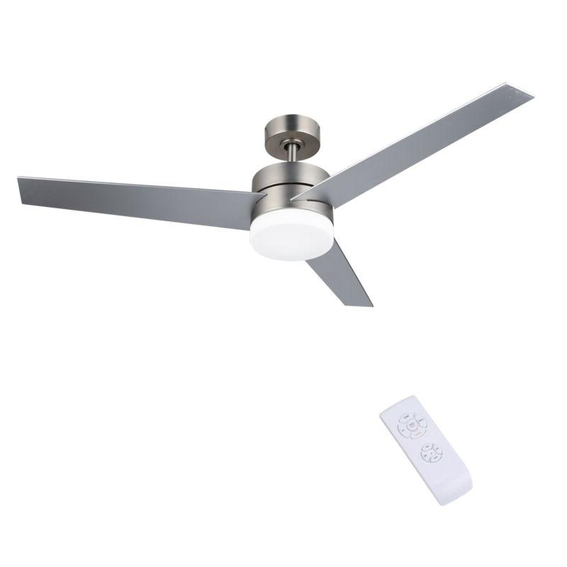 "52"" Modern Ceiling Fan Light w/ 15W LED Light Remote Contr"
