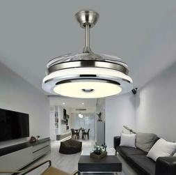 """Modern 36"""" Invisible Ceiling Fans with Dimmable LED Light Fa"""
