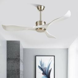 Modern Ceiling Fans Without Light Remote Control Plastic Bla
