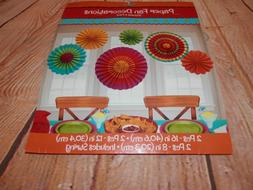 NEW Amscan Festival Fiesta Party Paper Fans Decorations Hang