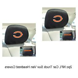 New FANMATS NFL Chicago Bears Mesh Head Rest Cover For Cars