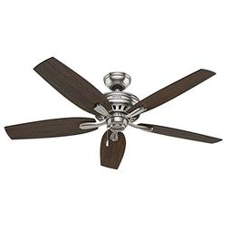 """Hunter 52"""" Newsome Brushed Nickel Ceiling Fan 53321 new"""