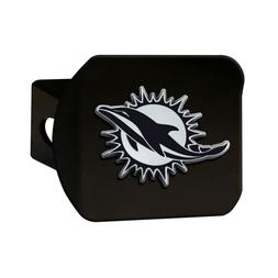 Fanmats NFL Miami Dolphins 3D Chrome on Black Metal Hitch Co