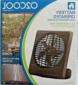 """O2COOL 5"""" Battery Operated Fan with Tilt for Directional Air"""
