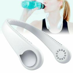 Portable Air Cooler Neck Neckband Fan 2 In 1 USB Mini Electr