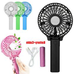 Portable Handheld Personal Fan Battery Operated USB Air Cool