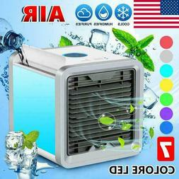 Portable Mini Air Conditioner Fans Personal LED Cooling Fans