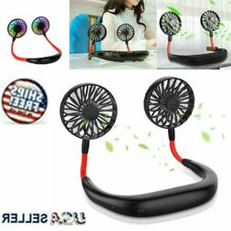 Portable Neck Fan Hanging Sport Lazy Neckband USB Rechargeab